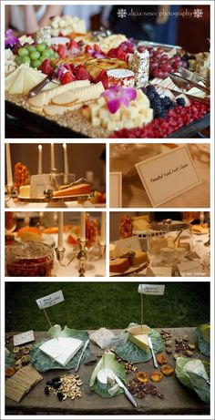 Cheese buffet....I really think I want one of these at my wedding!!