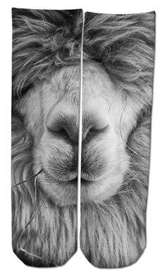 Hairy Llama Ankle Socks