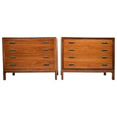 Pair of Mid-Century Modern Dressers by Glenn, California  | From a unique…