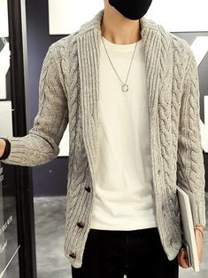 7c2fe14427 50 Fabulous Mens Cardigan Fashion Ideas You Must Try