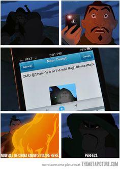 If Mulan characters had iPhones.