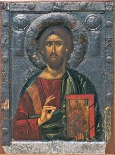 anonymous. Christ the Teacher. Monastery of St Clement. Macedonia. 1300