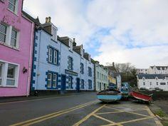 Cute colorful houses in Portree, Isle of Skye, Scotland