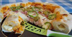 Cómo hacer pizza con los bordes rellenos de queso