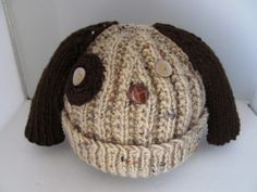 Novelty Hand Knit Dog Hat S | DuckCoveCreations - Knitting on ArtFire