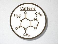 Caffeine Molecule. Counted Cross stitch by CharlotteAlexander $4.50