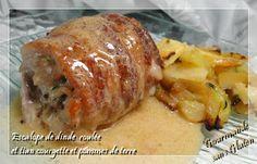 Gourmande sans gluten: Escalope de dinde  roulée et tian courgette et pom...