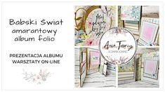 Amarantowy album folio - Babski Świat - Happy Place Mintay Papers - wars... Mini Scrapbook Albums, Mini Albums, Scrapbooking, Bullet Journal, Messages, Youtube, Paper, Instagram, Scrapbooks