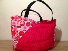 Mini Shopper Tasche nähen Anleitung DIY kostenloses Schnittmuster zum Ausdrucken #UniKati89
