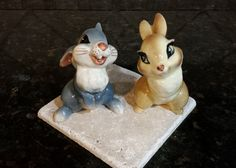 Vintage 1940's Disney Thumper & Ms Bunny Porcelain Figurines - American Pottery Co by KatsVintageTreasures on Etsy