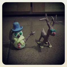 #Merry_Christmas #My_Reindeer and #My_Snowman That God bless you all and never forget the real Christmas' reason: Jesus Christ ;)