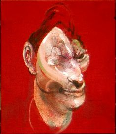 Francis Bacon - Portrait of Lucian Freud Francis Bacon, Lucian Freud, Michel Leiris, Pablo Picasso, Great Paintings, Oil Paintings, Art For Art Sake, Funny Art, Painting Art