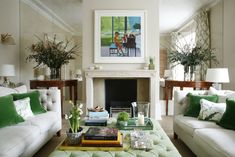 London living room with antique mirror wall and custom made coffee table by VSP Interiors - Lookbook - Dering Hall
