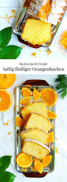 Rezept: Saftig fluffiger Orangenkuchen | #Orangenkuchen #Kuchen #Rezept #backen #waseigenes