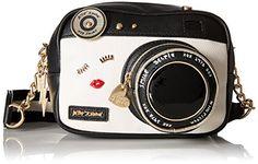 Women's Cross-Body Handbags - Betsey Johnson Kitsch Camera Crossbody Black -- Check out this great product.