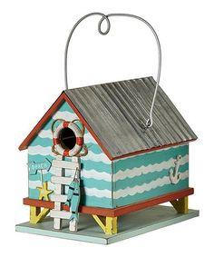 Beach House Birdhouse #zulily #zulilyfinds