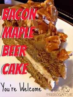 Bacon Maple Beer Cake on MyRecipeMagic.com