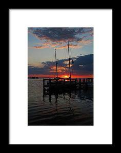 pineland, florida, sunset, silhouette, boat, water, sky, landscape, orange, blue, nature, michiale schneider photography