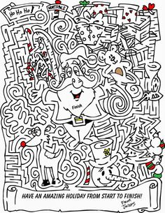 Fun Christmas Maze Printable Games, from Printable Maze For Kids category. Find out more coloring sheets here. Christmas Maze, Christmas Games For Kids, Christmas Party Games, Outdoor Christmas, Christmas Colors, Christmas Material, Family Christmas, Christmas Printable Activities, Mazes For Kids Printable