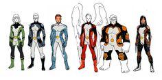 "All New X-Men, with a ""science adventure"" kind of feel - Stuart Immonen Marvel Comics, Marvel Comic Universe, X Men Costumes, Stuart Immonen, Superhero Characters, Character Modeling, Character Poses, Character Reference, Marvel Comic Character"