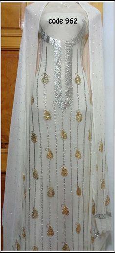 Pakistani Dresses, Indian Dresses, Hand Embroidery, Embroidery Designs, Indian Wedding Fashion, Caftans, Indian Designer Wear, Kebaya, Punjabi Suits