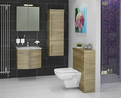 Scope - These luxurious suspended bathroom units are available in two widths: 600mm with doors, and 800mm with a large drawer.