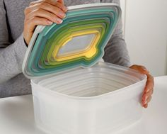 Perfect for keeping the #kitchen cupboards in order, the Joseph Joseph Nest™ Storage Opal food container set
