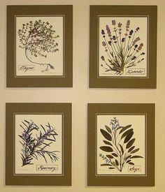 Herb Set by SecretGardenStudios on Etsy Unique Wall Decor, New Kitchen, Virginia, Gallery Wall, Artisan, Herbs, Invitations, Etsy Shop, Wall Art