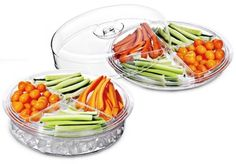 Felli 6 Piece Acrylic Divided Sections Serving Tray / Compartment Party Appetizer Platter Ice Baths, Tray Decor, Appetizers For Party, Kitchen Dining, Divider, Product Photography, Platter, Decorative Trays, Serving Trays