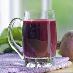 In this healthy ginger-beet juice recipe, we pack in vegetables by adding kale and a carrot, and sweeten with an orange and apple. No juicer? No problem. See the juicing variation below to make this beet juice recipe in the blender. #vegetablejuicerecipe