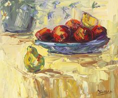 Pears Painting Print on Wrapped Canvas