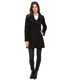 Image result for calvin klein asymmetrical coat women