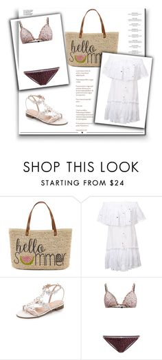"""""""Outfit # 4025"""" by miriam83 ❤ liked on Polyvore featuring Straw Studios, Roberto Cavalli, Oscar de la Renta, Zimmermann, Haute Hippie and Whiteley"""