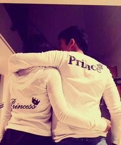 Matching couples sweater s, matching jackets, matching hoodies. Prince and Princess sweatersSo cute! Matching couples sweater s, matching jackets, matching hoodies. Prince and Princess sweaters Cute Couple Shirts, Couple Tees, Matching Couple Outfits, Matching Couples, Couple Clothes, Couple Stuff, Couple Things, Couples Assortis, Cute Couples Goals