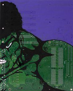 Alternative canvas from electronics | Recyclart