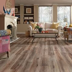 Fairhaven laminate, a European Oak look w/a wire-brushed, whitewashed finish.