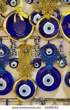 Turkey, Istanbul, Grand Bazaar (Kapalicarsi), silver Turkey, Istanbul, glass turkish eyes for sale