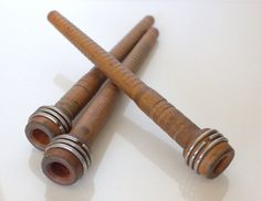 Gorgeous Antique Wooden Spools Set of Three by by UptownVintage, $18.00