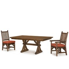 Rustic Dining Table #3498 and Rustic Chairs #1204 & #1206 by La Lune Collection
