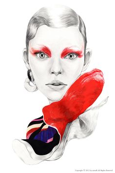 The Lure of the RED by mina kim, via Behance