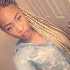 Blonde box braids I love