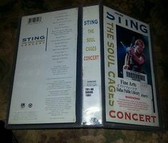 Sting-The-Soul-Cages-Concert-VHS-Video-Tape-Out-of-Print