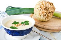 Selleriesuppe - Rezept Soup Recipes, Potato Salad, Mashed Potatoes, Food And Drink, Low Carb, Vegan, Health, Ethnic Recipes, Petra