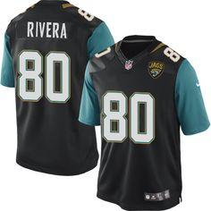 Youth Nike Jacksonville Jaguars #80 Mychal Rivera Limited Black Alternate NFL Jersey