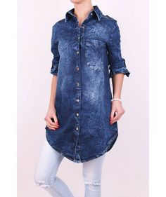 Dámska rifľová tunika Shirt Dress, Shirts, Dresses, Fashion, Tunic, Vestidos, Moda, Shirtdress, Fashion Styles