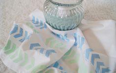 DIY Stamped Dishcloth