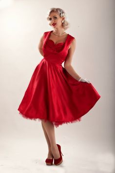 Lady Mayra ELSA Red Christmas Dress Vintage Rockabilly Clothing Pin Up 1950s Retro Holiday Party Prom Bridal Wedding Bridesmaid Plus Size by LadyMayraClothing on Etsy https://www.etsy.com/listing/214749526/lady-mayra-elsa-red-christmas-dress