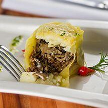 Escondidinho de carne com purê de batata trufado por Academia da carne Friboi