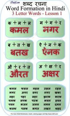 Read Hindi - 3 letter words