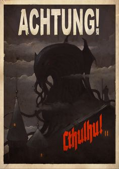 Cthulhu by *DimMartin on deviantART Lovecraft Cthulhu, Hp Lovecraft, La Sombra Sobre Innsmouth, Yog Sothoth, Call Of Cthulhu Rpg, Lovecraftian Horror, Evil Empire, Lord, Retro Futurism